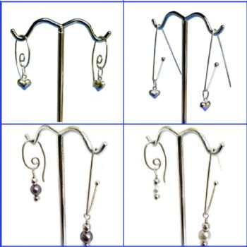 Silver and Pearl Branch - Interchangeable earrings